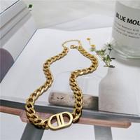 316L Collier Double D Titanium Double D Lettre Double D Convient aux hommes / bracelets pour femmes / Colliers bijoux