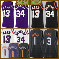 2021 New Devin 1 Booker Basketball Jersey Chris Herren 3 Paul Mesh Retro Steve 13 Nash Billig Charles 34 Barkley Jugend Kinder lila