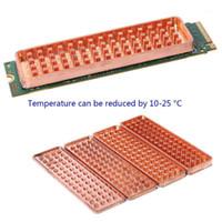 النحاس nvme ngme m.2 بالوعة الحرارة 2280 SSD الصفائح المعدنية الحرارية الموصلية سيليكون رقاقة تبريد مروحة M2 heatsink1
