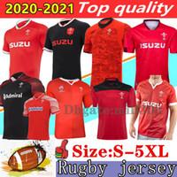 2020 2021 Wales Rugby Jersey Home Away shirt Top Qualität 19/20 Weltmeisterschaft Wales Rugby Hemden 20 21 Männer Jersey Größe: S-5XL