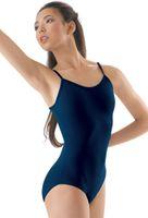 Bühnenabnutzung bescheidene löffelrücksender klassische Mädchen Camisole-Stil Trikotgymnastik Dancewear Kinder Lycra Spandex-Tanz LeoTards1