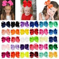 Crianças meninas de 6 polegadas colorido cabelo grande cabelo maciço cabeleireiro com grampo barrettes 30 cor bonita huilin c53