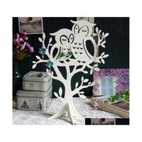 Coruja jóias carrinho brincos de árvore titular pulseiras colar pingente jóias exiger prateleira decoração dia dos namorados dia presente y83fx