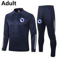 2020 Bosna Hersek futbol Eşofman yetişkin futbol koşu ceket pantolon Survetement kış futbol antrenman takım Koşu Setleri
