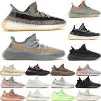 Kanye West Eliada Carbon Zyon Yecheil 블랙 얼룩말 크림 화이트 망 여성 러닝 신발 스포츠 스포츠 큰 크기 Des Chaussures 상자 US5-13