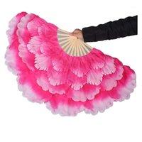 Sahne Aşınma Feecolor 2 adet / grup Oryantal Dans El Tutulan Hayranları 50 cm Çiçek Katmanlı Handfan Performans Duş Modern Dans Aksesuarları1