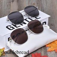Corée Marque Designer femmes lunettes de soleil polarisées DOUX doublebread lunettes de soleil femmes hommes Loisirs Voyage ronde lunettes de soleil GM