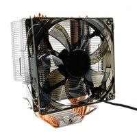 CPU Cooler 12cm fã 6 Copper Heatpipes 3Pin Radiador Refrigerador de refrigeração de ventilador único com LED para LGA 1150/1151/1155/1156/2011