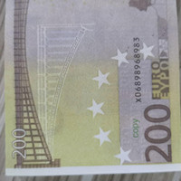 Juego realista 200 PROP BANKNOTE EE. UU. Niños Play Toy Money 100pcs / Pack Familia o copia Euro Papel Ahhni