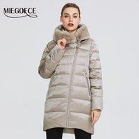 MIEGOFCE Kış Kadın Koleksiyonu Kadın Sıcak Ceket Coat Kış Windproof Hood ve Tavşan Kürk Parka 201.014 ile Yaka-Stand Up