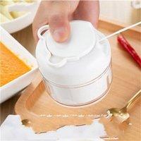 Tirar manualmente Ajo Mini ajo Press Mashed Mashed Ajo Producto útil Carne Grising Ajo Shredder Home Kitchen Grater DB 11 K2