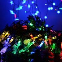 Bola de cristal de agua caída de energía solar de los Globos de Luz de Navidad 8 Efecto de Trabajo para el jardín al aire libre de Navidad decoración Luces GGB2388