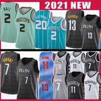 Brooklyn Nets Charlotte Hornets 7 Kevin james 13 Harden LaMelo 2 Ball Durant Kyrie 11 72 Biggie 2021 new Irving Basketball Jersey Gordon 20 Hayward