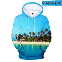Funny Classic Ocean Beautiful Seaside View Coconut Tree 3D H...