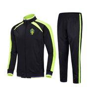 20-21 İsveç Ceket Futbol Spor Çocuk Futbol Eşofman Koşu Takım Elbise Açık Eğitim Setleri erkek Sportwear