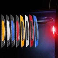 4 Pz / set Auto Prodotti Auto Porta Auto Autoadesivo Decalcomania Avvertimento Nastro Auto Autoadesivi riflettenti Autoadesivi riflettenti Adesivi per auto Adesivi per auto Segno di sicurezza
