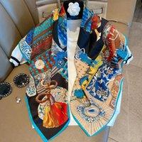 90 * 90cm kabartılmış İpek Boyun Eşarp İçin Kadınlar Moda Şal ve sarar Hicap Atkı Kadın Sqaure Şal Başkanı Eşarplar İçin Bayanlar Kış