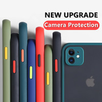 Kamera-Objektivschutz Telefonkasten für iPhone 12 Pro max 11 12 Mini X XS XR 6 6S 7 8 PLUS SE 2020 Matte Transparent Stoßdämpfe Abdeckung