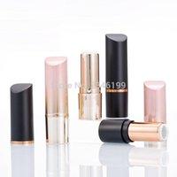 Frascos de armazenamento frascos 12.1mm preto batom plástico tube rosa ouro vazio labial recipiente cosmético garrafa redonda ferramenta de maquiagem de alta qualidade 30 pcs