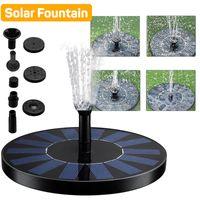 Fontaine solaire flottante Pompes à eau Piscine Décoration Panneau Solaire Fontaine Pompe à eau Jardin étang Décoration libre DHL