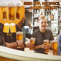 4 em 1 xícaras de cerveja Creative Engraçado Óculos de Cerveja Acrílico Caneca De Cerveja De Cerveja De Festa Super Schooner Vidros Vidros Vt2200