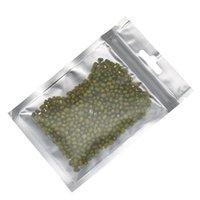 Matte Black Mylar прозрачный пластиковый пакет пакета 8,5 * 13 см Тепло герметичная алюминиевая фольга упаковка сумка на молнии