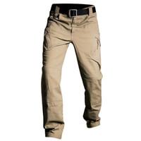 IX7 IX9 Pantalon tactique Cargo Pantalons Hommes Casual Pantalon travail Pantalon Armée style Pantalon noir mince combat Pantalon baggy