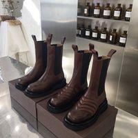La venta caliente mujeres botines botas de plataforma de las nuevas mujeres dama de la moda de diseñadores de lujo de arranque botas
