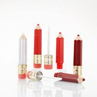 5ml Cancella Bottiglie vuote Pencil Lip Gloss forma di tubo Lip Gloss Viaggi Bottiglia Packaging Logo Container privato Servizio Ricaricabile Lipgloss