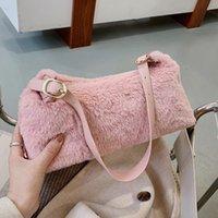 الإبط صناع فو dongxin حقيبة أزياء المرأة الرغيف الفرنسي تصميم الكتف الفراء dskik puous