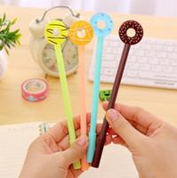 Gel Stifte 4 Stück Lytwtw's koreanischer Briefpapier Süßigkeiten süße niedliche Donuts Kreative Schulbürobedarf Geschenk Donut Neue Griffe1