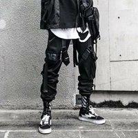 Pantaloni casual hip hop figura paracadute funzionali scuri