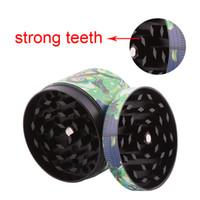 Herb Kırmızı Top Sigara Değirmeni Aksesuarları Öğütücü Metal CNC Diş Tütün Öğütücü 50mm 3 Parça Karışımı Tasarımlar