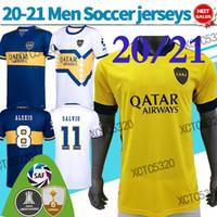 20 21 Boca Juniors Soccer Jerseys # 10 Tevez # 16 De Rossi Third Soccer Shirts الرجال الصفحة الرئيسية قميص كرة القدم
