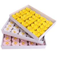 비누 꽃 머리 인공 나비 난초 phalaenopsis 꽃다발 선물 상자 홈 장식 수제 웨딩 파티 공급