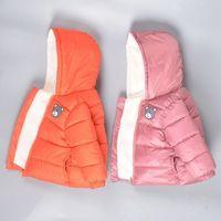 Croal Cherie Fleece Meninas Jackets Kids Boys Revestimentos Casacos de Inverno Outerwear Casacos Casuais Bebê Meninas Roupas Parkas 201127