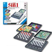 5 в 1 в 1 шахматиммам китайские шашки магнитная доска игры летающие шахматы детей классический рейс головоломки игра для друга дети подарок lj200922