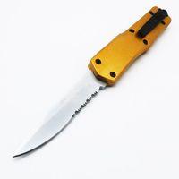 Tamanho completo grande A07 9inch ouro duplo ação opcional de caça de dobramento fixo lâmina de bolso faca de sobrevivência faca xmas presente