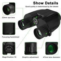 Новый 10x25 Бинокль HD All-оптический двойной зеленый фильм Водонепроницаемый бинокль телескоп для часов жгуте Охота Путешествия Спорт Trekking Bird