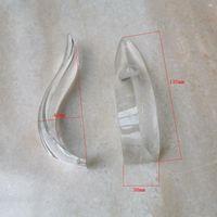4pcs / lot 구부러진 삼각형 크리스탈 바 아크 곡선 된 유리 스트립 샹들리에 크리스탈 1 쪽 끝 램프 액세서리에 1 홀 화살표 모양