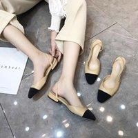 Classics desinger mulheres sandálias de couro genuíno sapatos femininos deslizamento em planos rasos sapatos para sandálias de verão plus tamanho 34-42 y200702