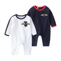 Новорожденные мальчики для мальчиков девушки одежда мультфильм m бобов 100% хлопок с длинным рукавом комбинезон малышей вскользь детские комплекты одежды