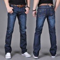 2020 Yeni sıska Erkek kot erkekler marka Moda erkek Casual Pamuk İnce Düz Esneklik Pantolon Serbest Bel Uzun Pantolon Denim