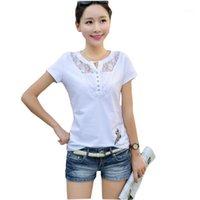 T-shirt da donna KUTIIYA Estate Donne Casual Lady Lady Top Tees Cotton White Tshirt Femmina Brand Abbigliamento T Shirt TEE Plus Size1