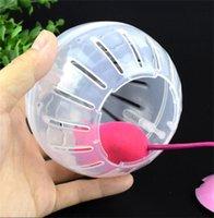 Цветовая крышка Pet Runing Ball Hamster Кронштейн Роликовый роликовый бодибилдинг спортивный бегун кристалл прозрачный пластиковый питает 5 49JY M2