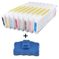 Cartucho de tinta recargable + viruta Resetter para la impresora Stylus Pro cartucho de tinta 7800 9800 7880 9880 T5631-T5639 T6031-T6039