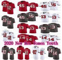 الرجال النساء الشباب كرة القدم 12 توم برادي 87 روب جرونكوفسكي إيفانز كريس جودوين ديفين أبيض جيرسي