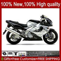 Body pour Yamaha Yzf1000R Thunderace 1996 1997 1998 1999 2000 2001 96HC.56 Argent Black YZF-1000R YZF 1000R 96 02 03 04 05 06 07 Kit de carénage
