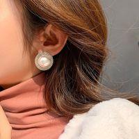 Люстра свисалки des bouce reeilles 925 серебряные иглы роскошные серьги серебряные красные преувеличенные полные жемчуга для женщин
