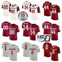 Oklahoma Prima di NCAA Football College 44 Brian Bosworth Jersey Red White 24 Joe Washington 1 Kyler Murray 14 Sam Bradford 2 Ceetee Agnello